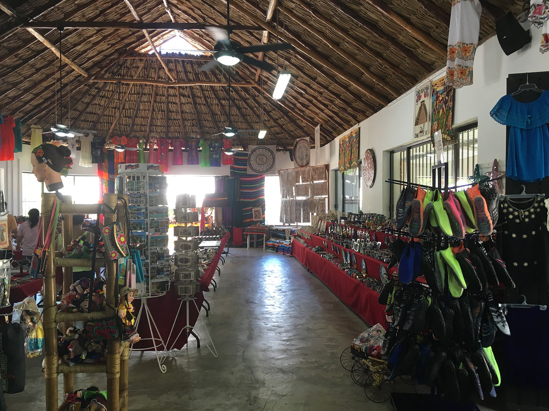 The souvenir shop by the cenote restaurant.