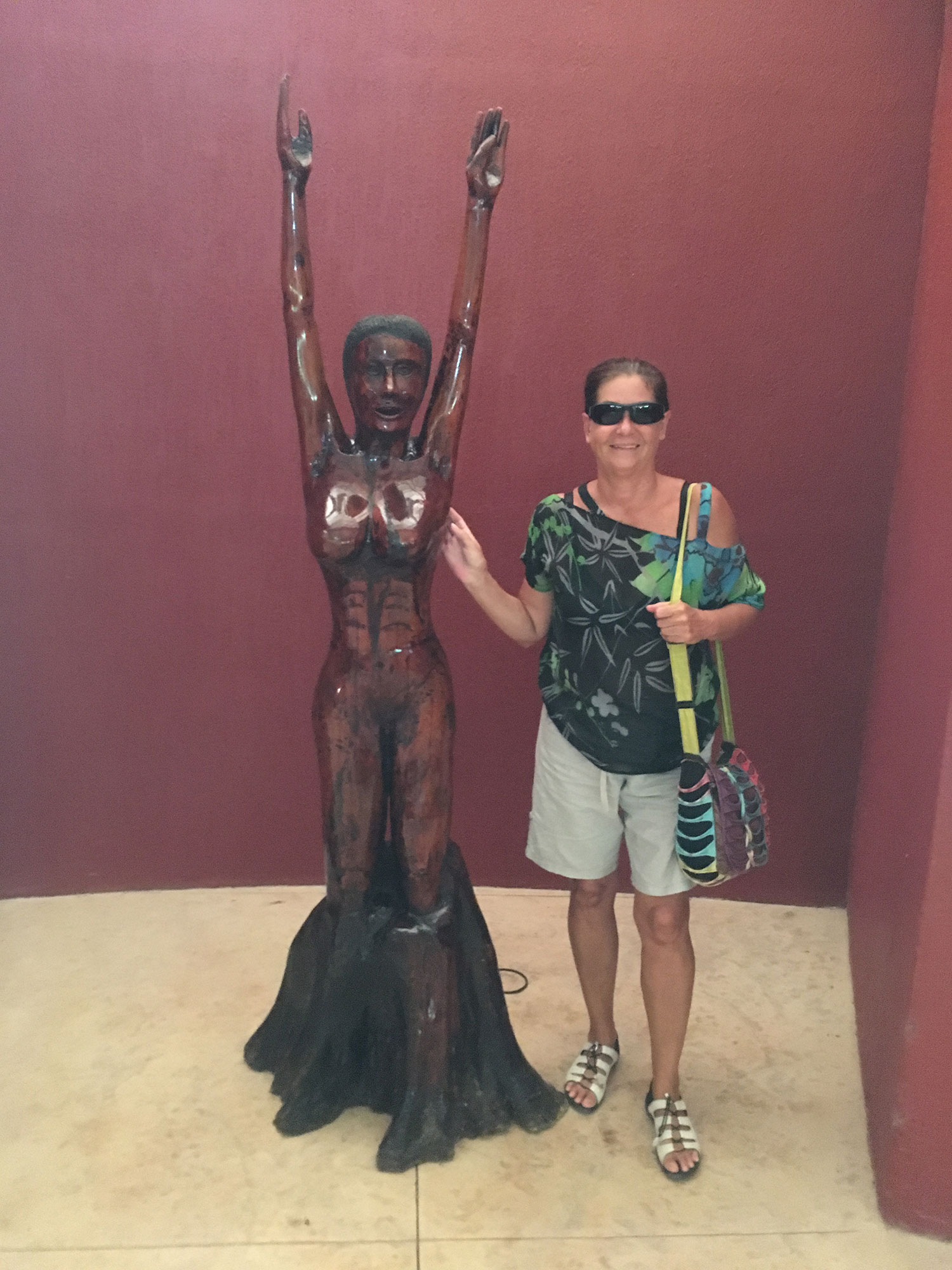 With the World Tree lady at the cave museum.