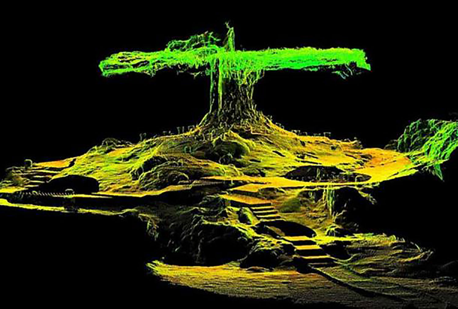3D laser scan of the Ceiba room. Source:  wikipedia.org .