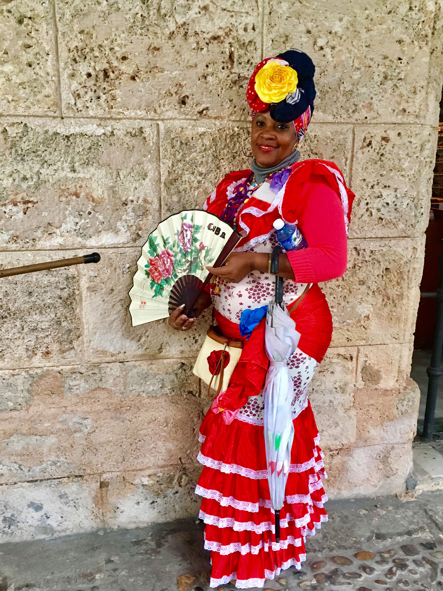 A Cuban lady at the Governors' Palace at Plaza de Armas.