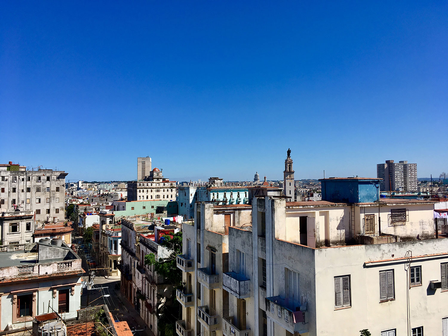 Views of New Havana from our room in hotel Colina.