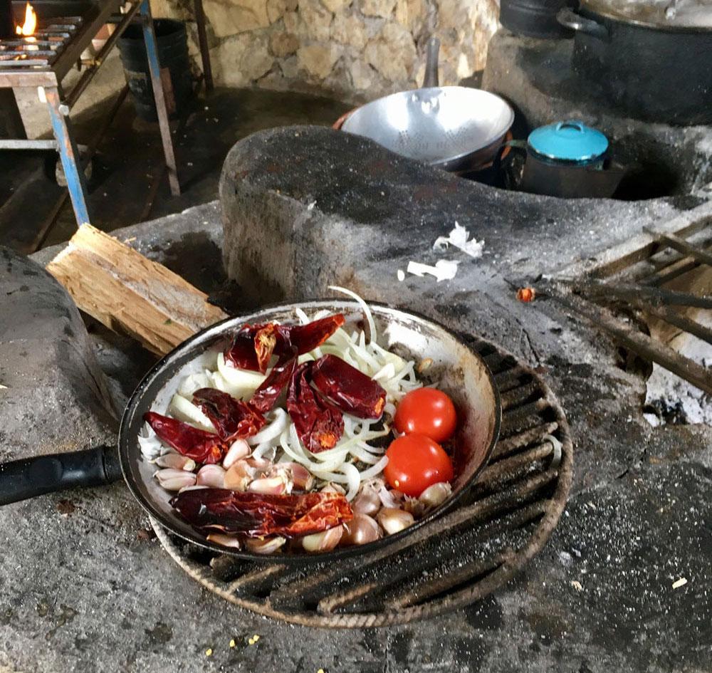 Esmeralda's cooking.