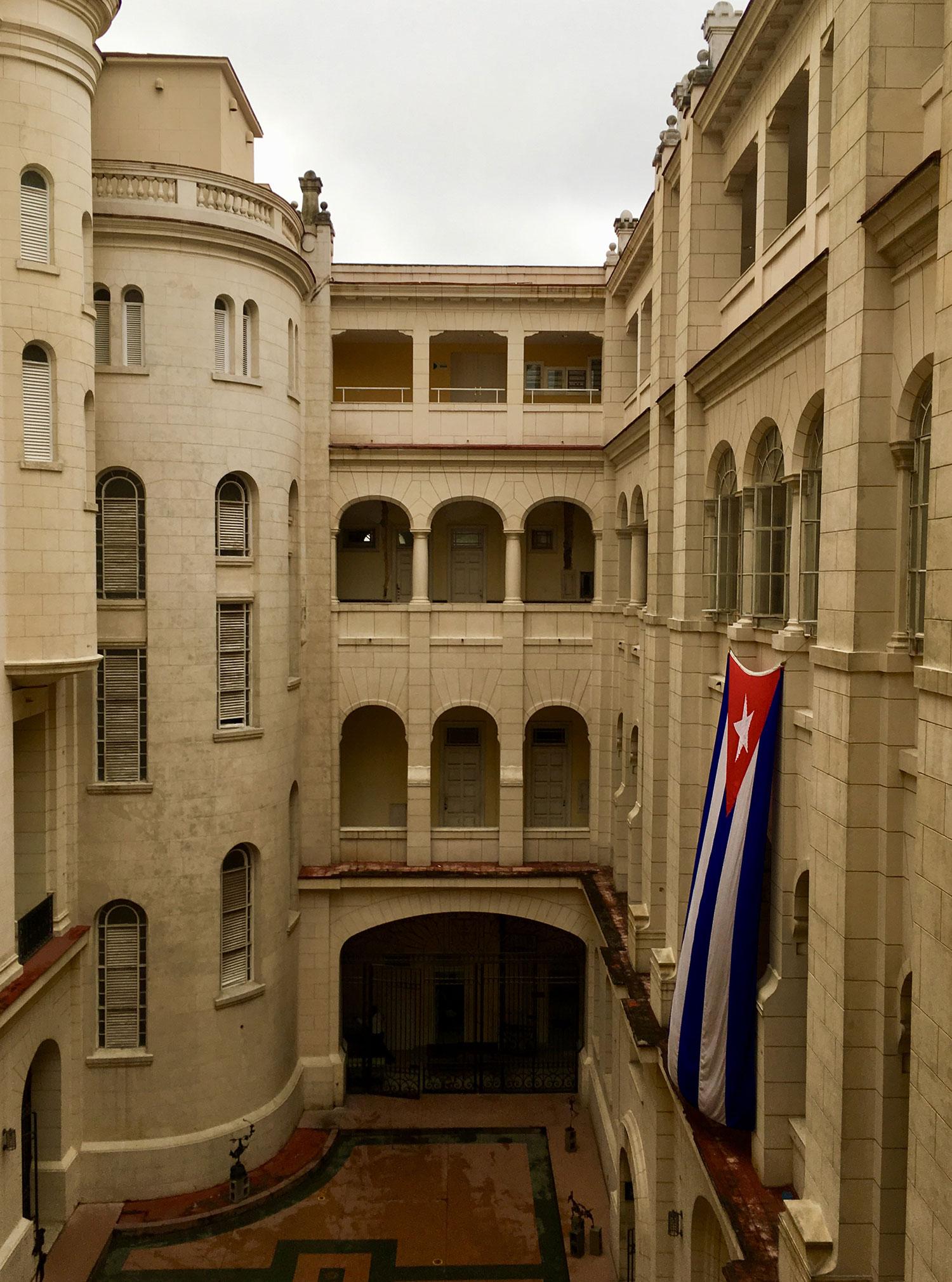 The inner courtyard.