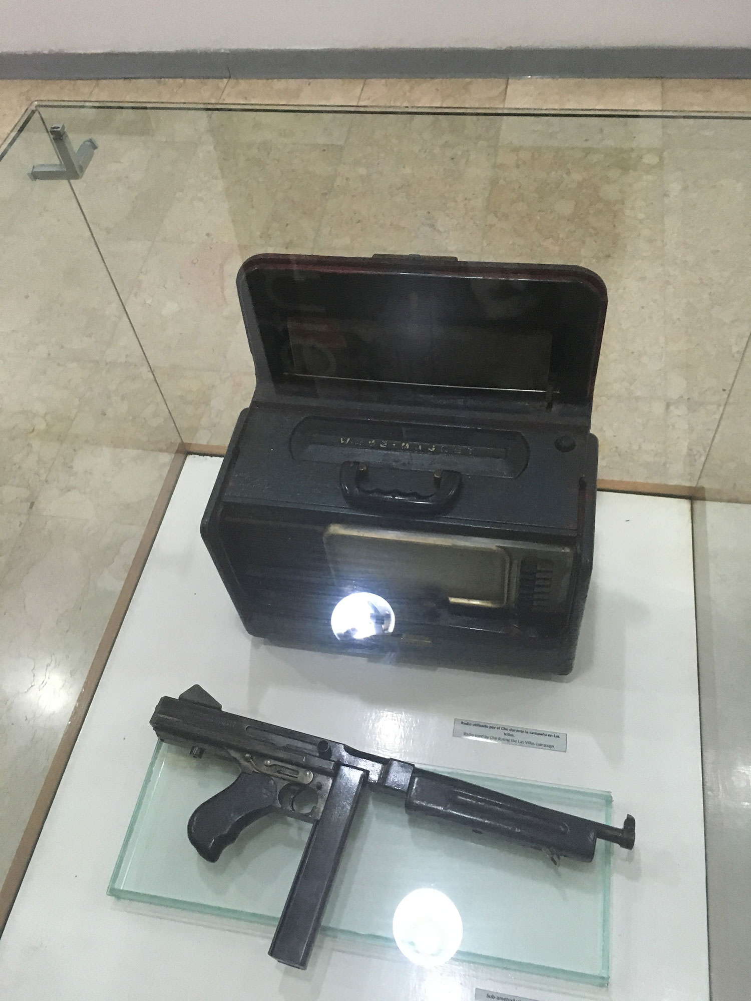 Personal items at the museum.