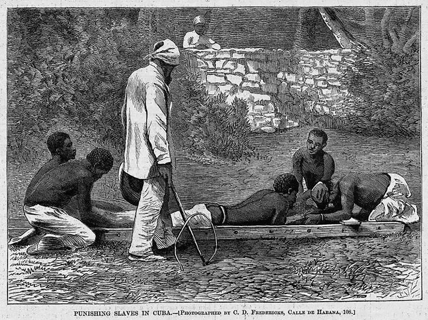 Whipping slaves, Cuba, 1868:  slaveryimages.org .