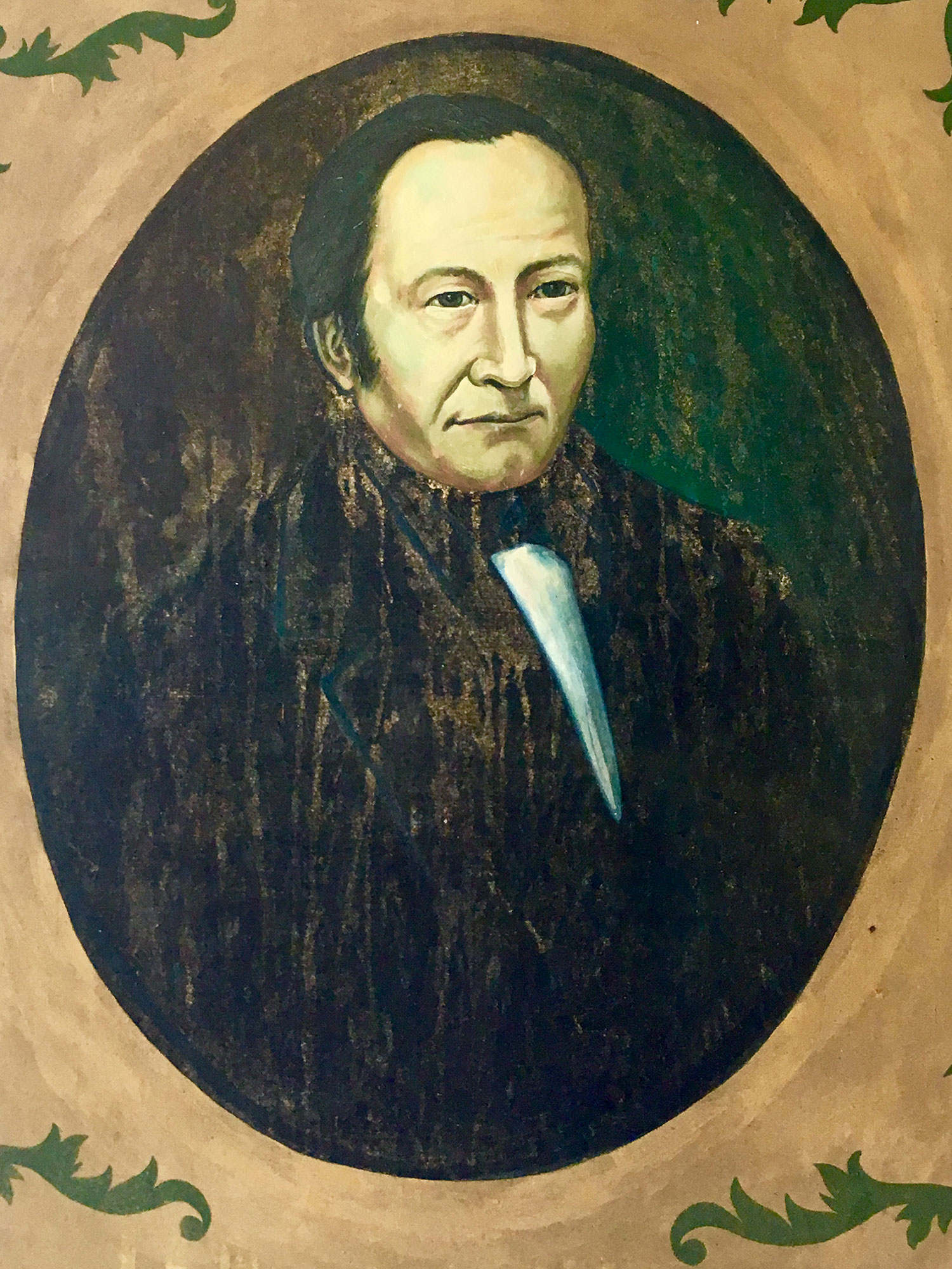 Pedro José Iznaga and his wife, portraits from the hacienda.