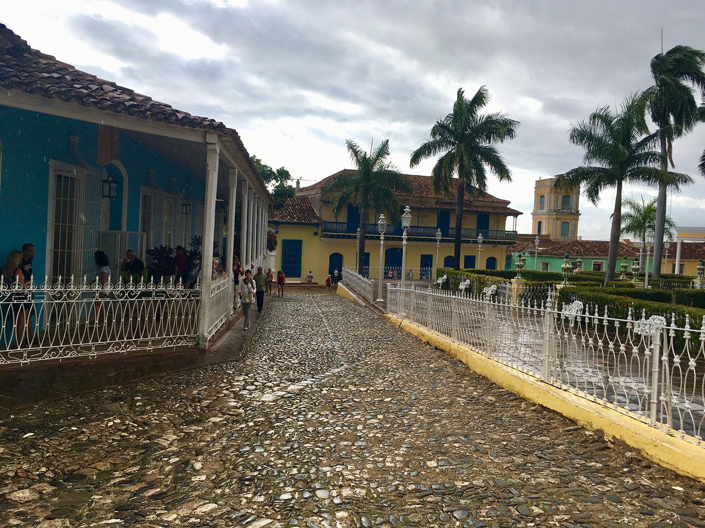 The park at Plaza Mayor.