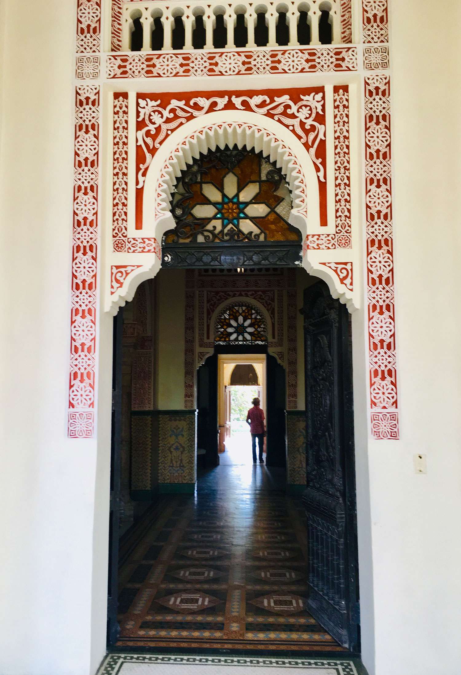 Each door has a different decoration style.