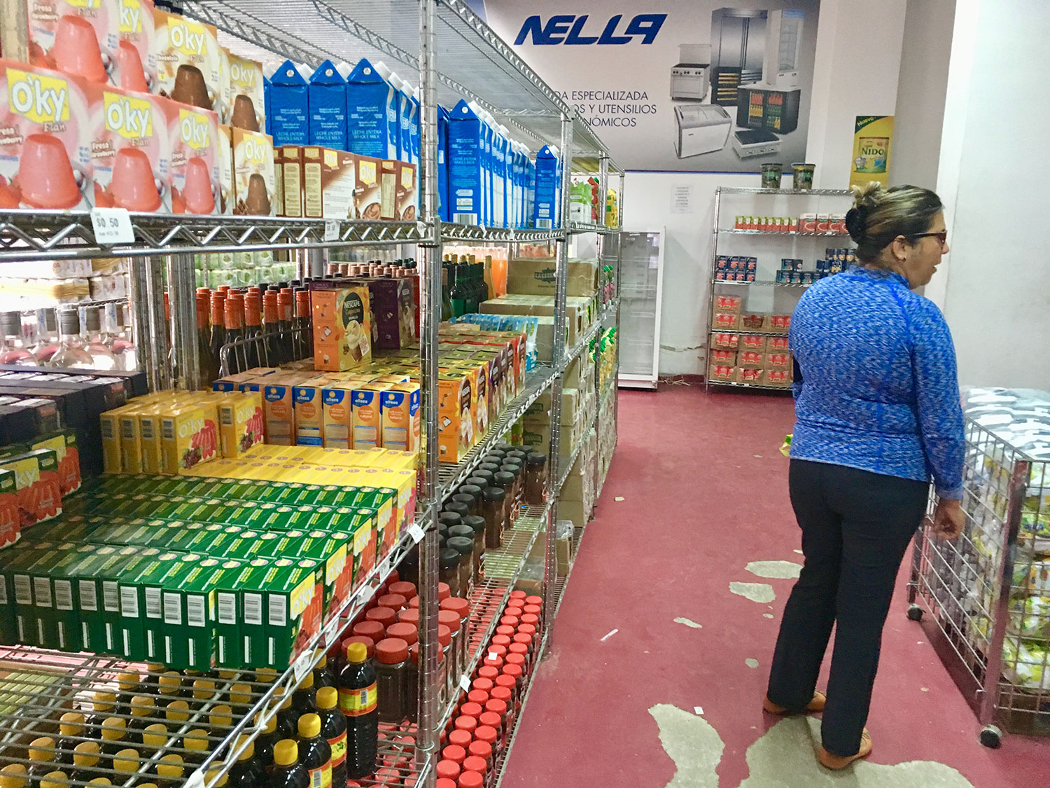 The PanAmerican shop with juice and biscuits.