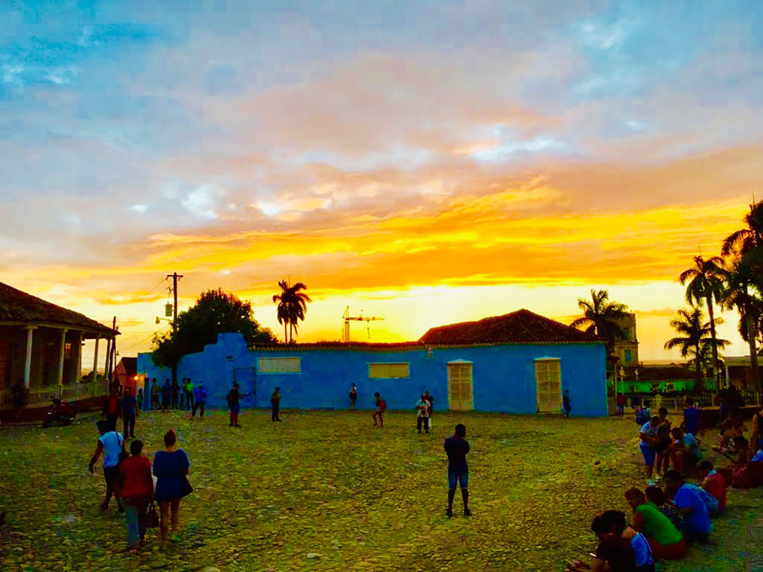 The sunset in Trinidad.