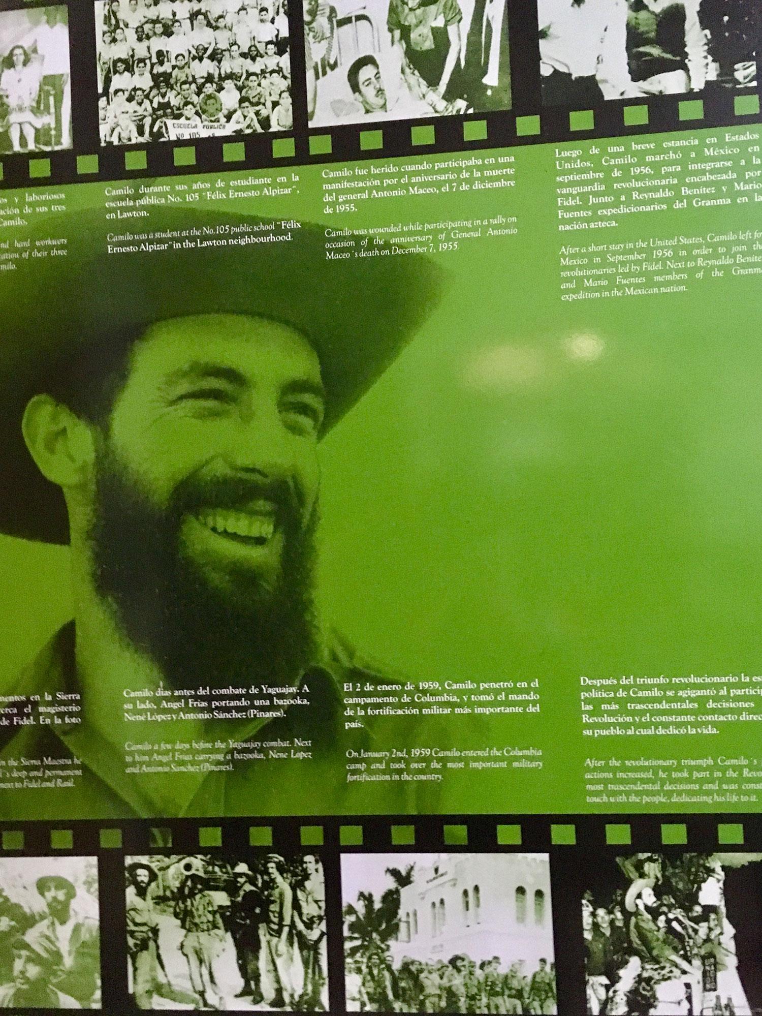 Fidel Castro at the Museum of Revolution in Havana.