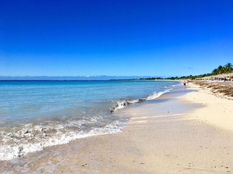 The long public beach (don't expect public toilets here).