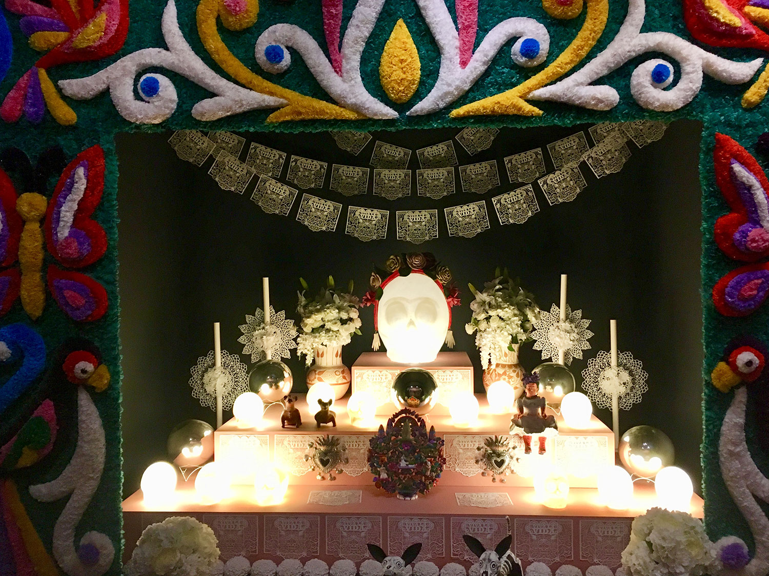 The altar for the Day of the Dead.