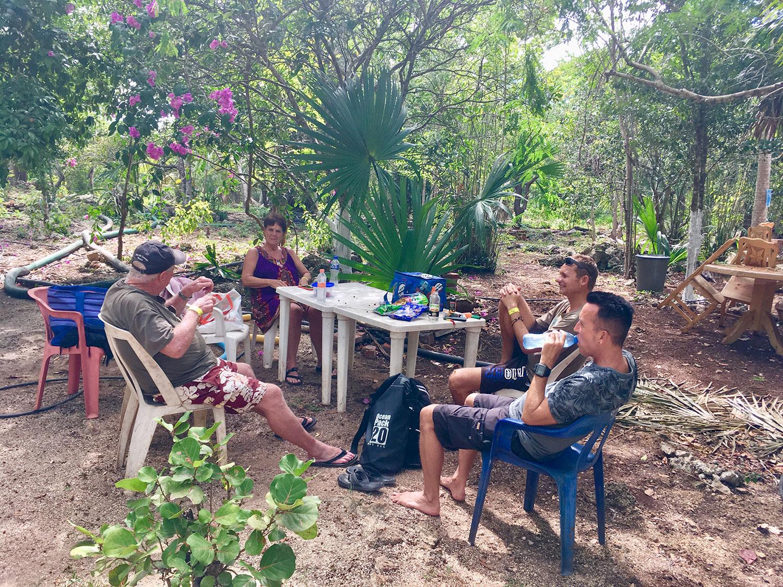 My friends having a picnic.