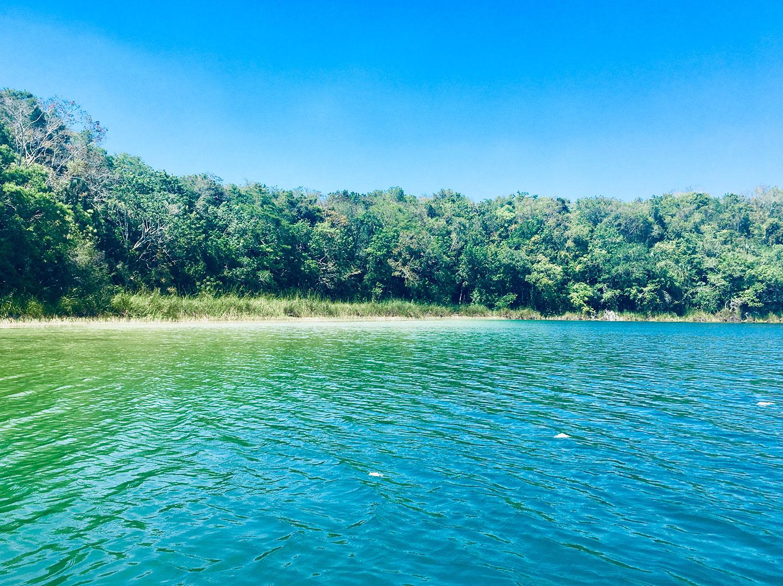 Punta Laguna lake.