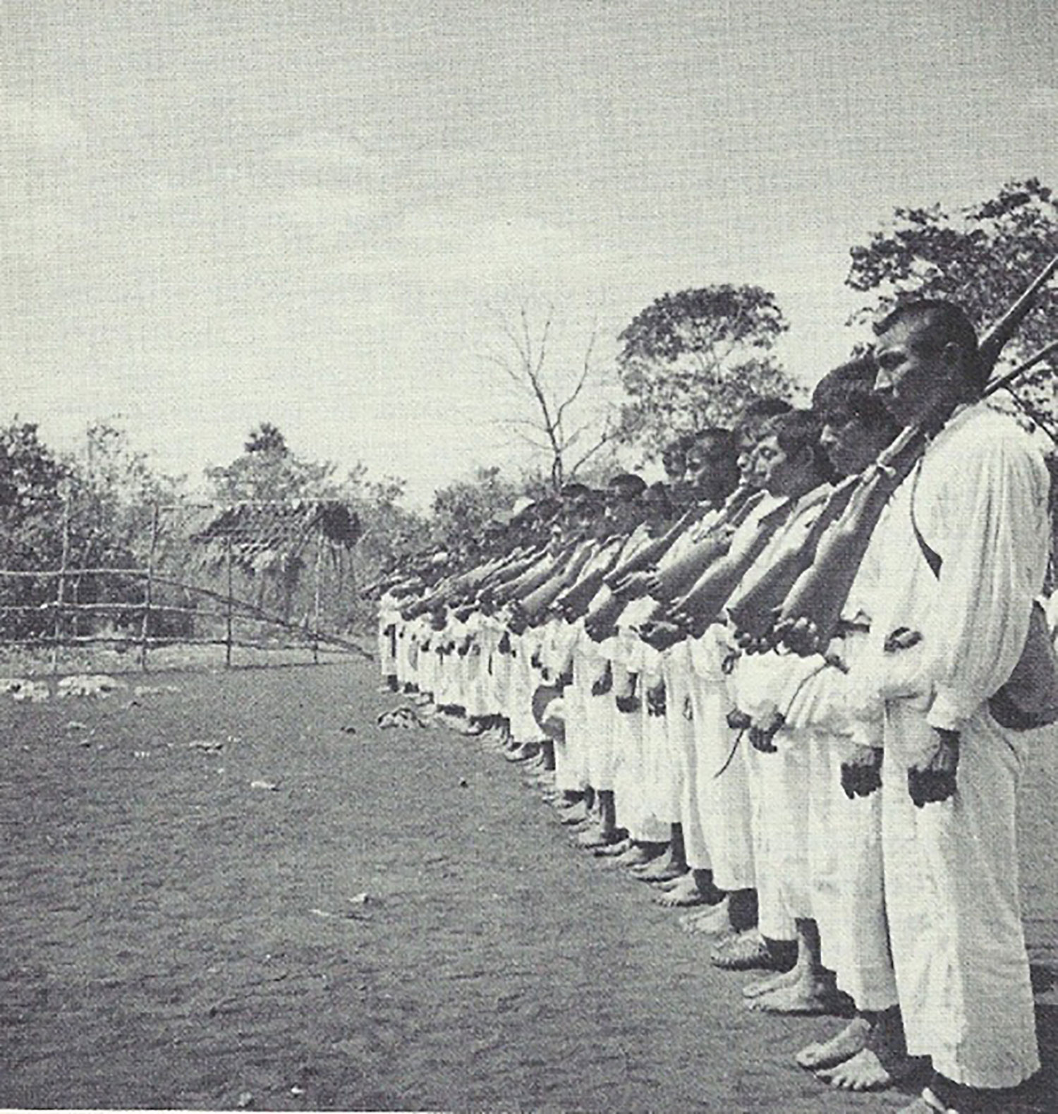 The guard at Xcacal Guardia, 1930s:  theyucatantimes.com .