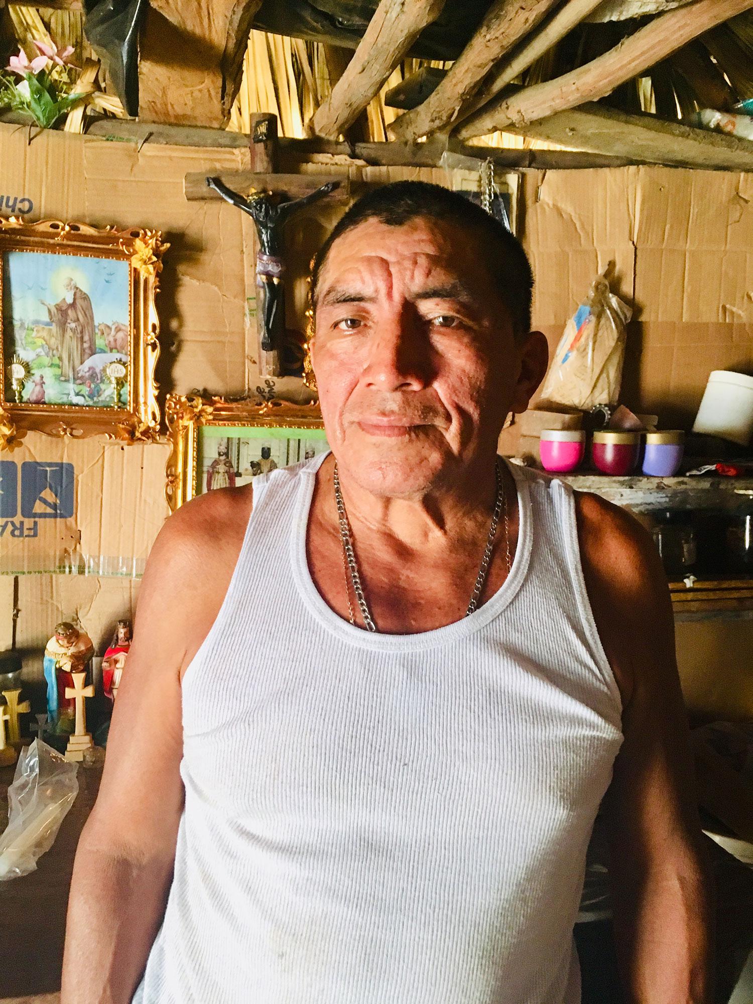 Zacarías, the Maya Ah Men (shaman).