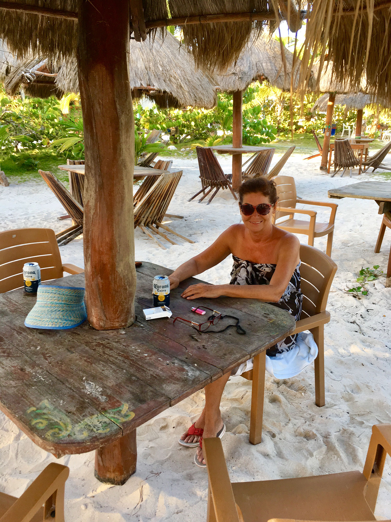 On our beach at Blue Kay Eco Resort.