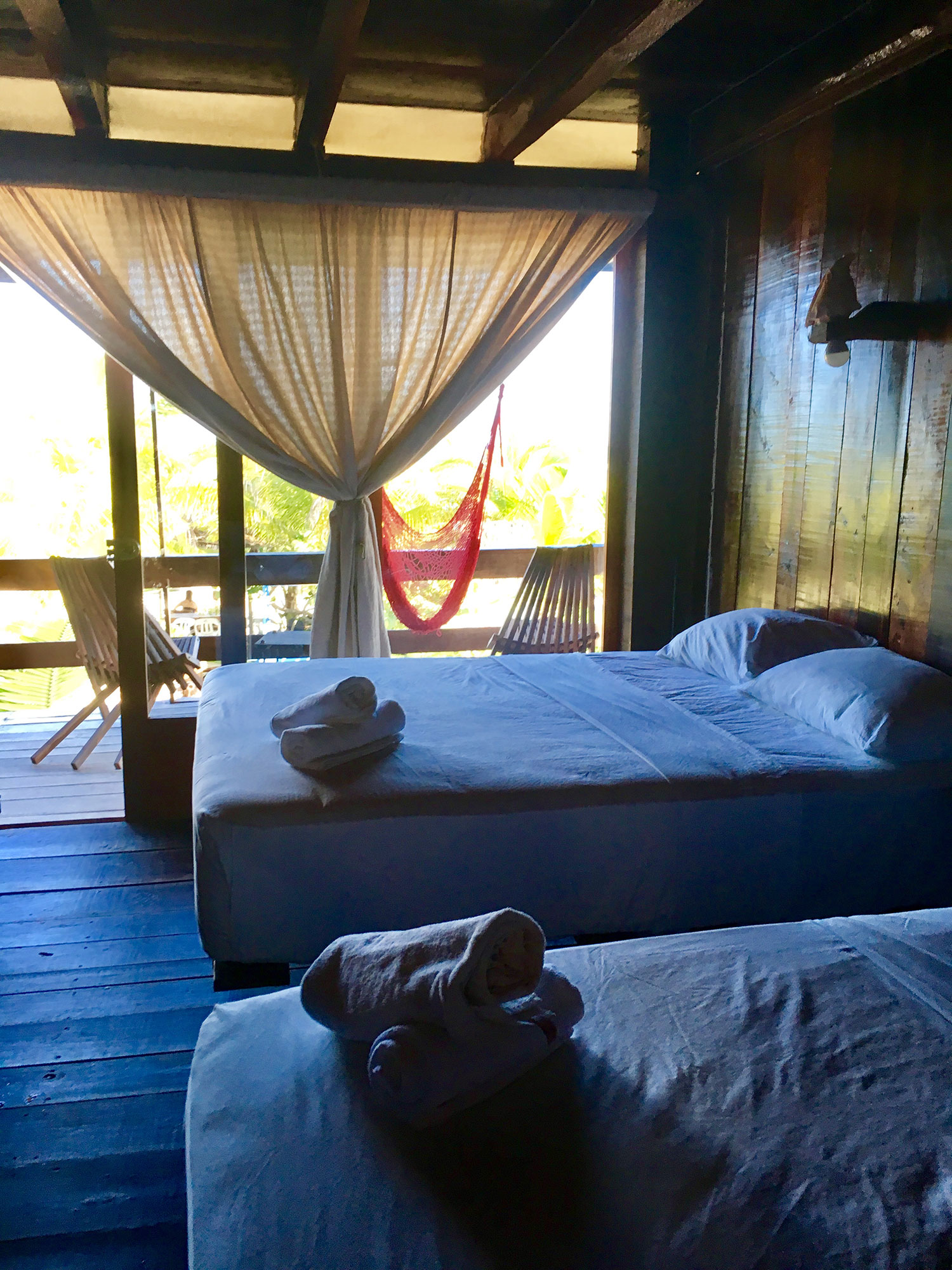 Our room at Blue Kay Eco Resort.