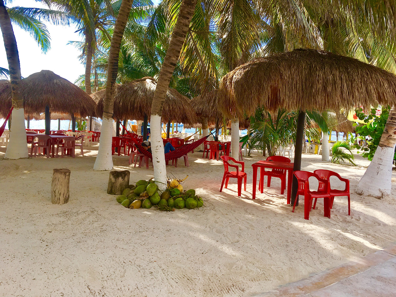 Our beach at Blue Kay Eco Resort.