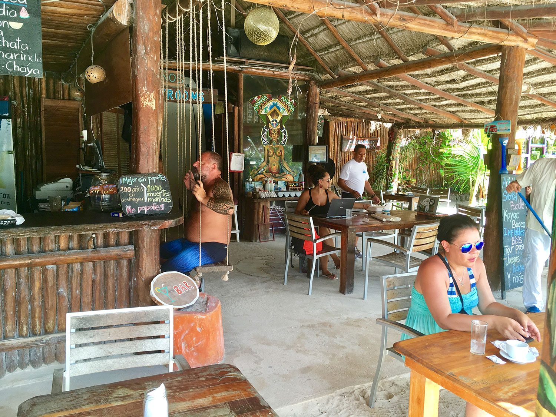 The restaurant at Blue Kay Eco Resort.
