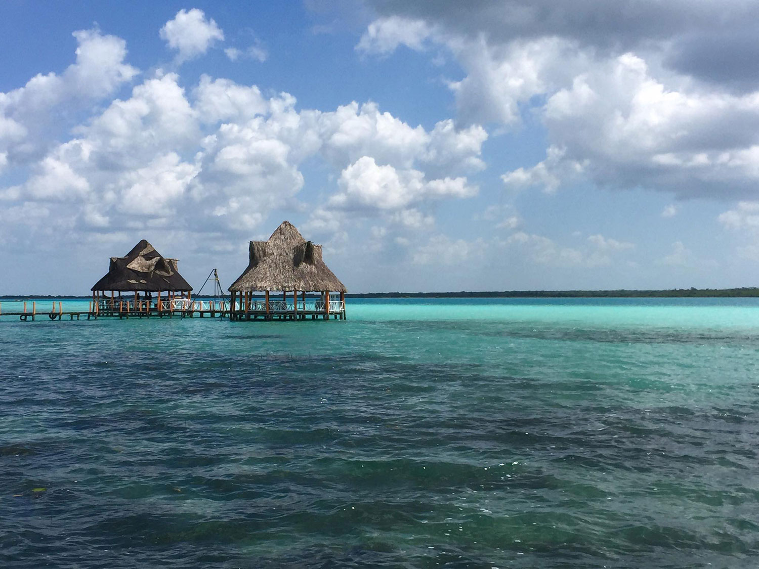 Bacalar, the Lake of Seven Colours.