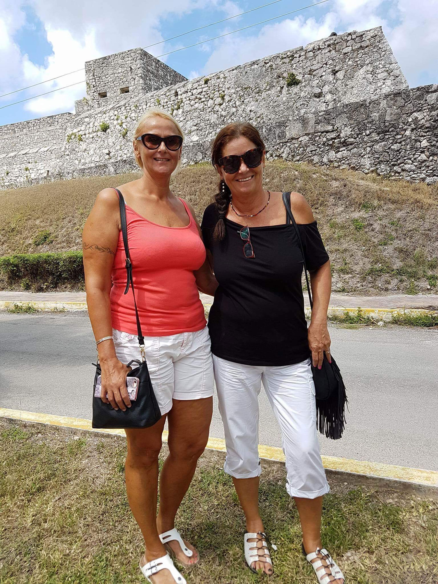A visit with my friend Eva in 2016, in front of the fortress.