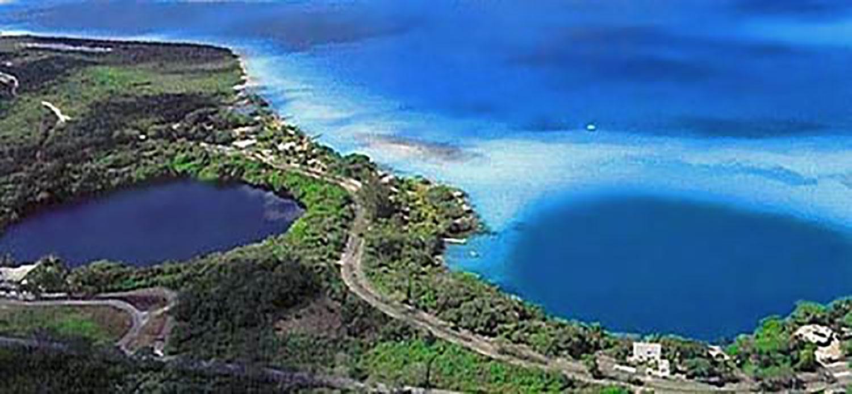 Blue lagoon on the left, courtesy of Pinterest.
