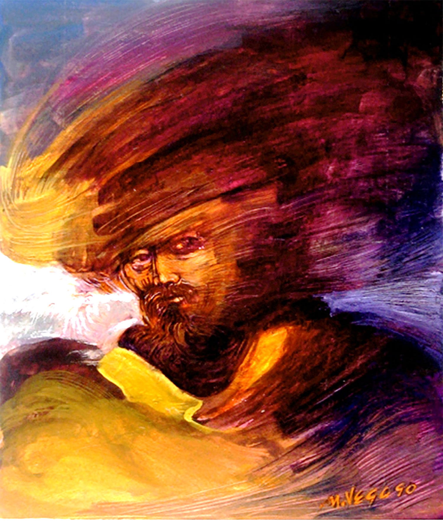 Privateer. Painting by Mauricio García Vega from the Yucatan Times.