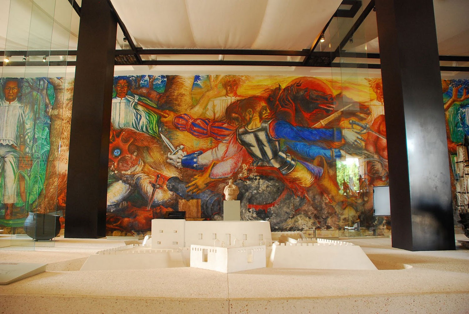War of the Conquest, mural by Elio Carmichael (1983).