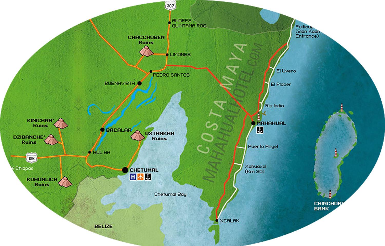Maps:  costamayamahahual.files.wordpress.com .