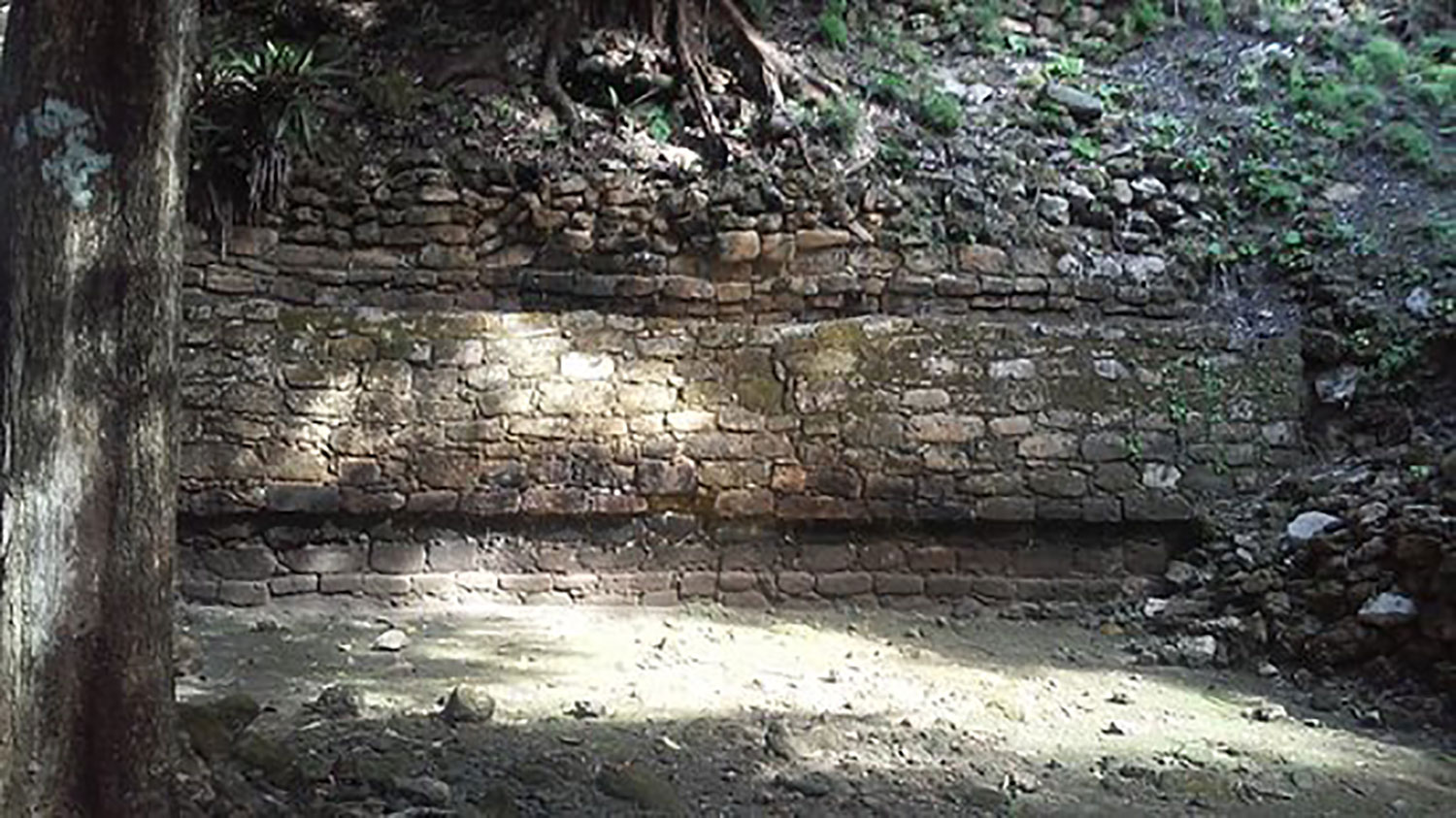 West wall of the Great Basement shows its elevation.