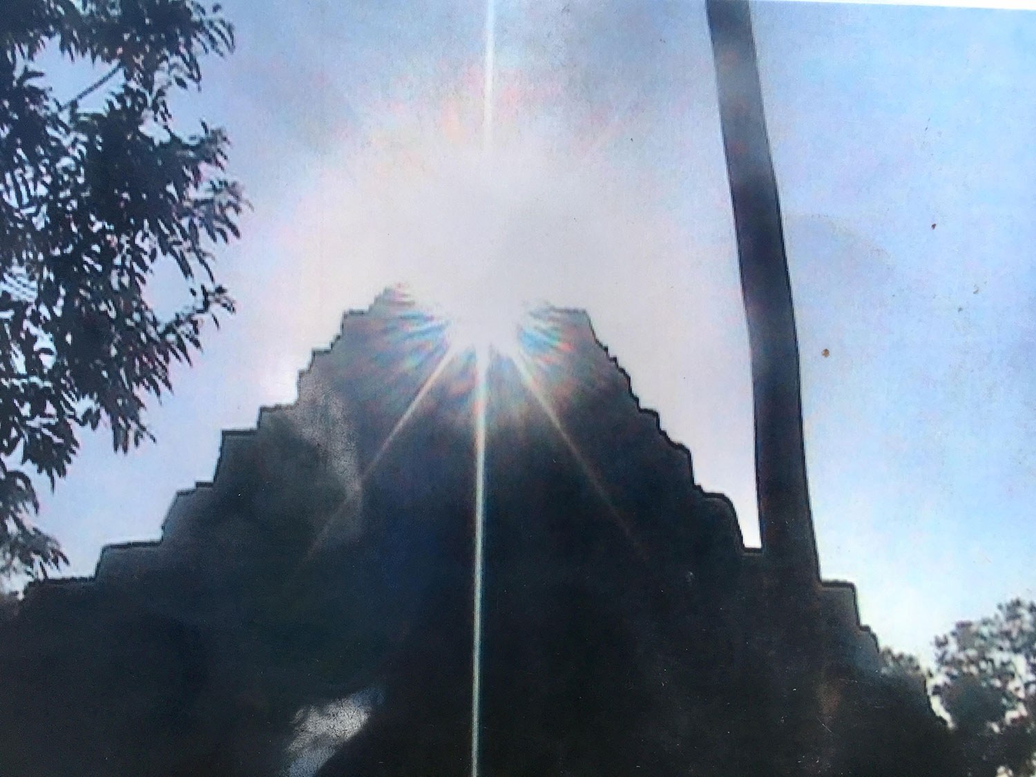 Summer solstice over Temple 1.