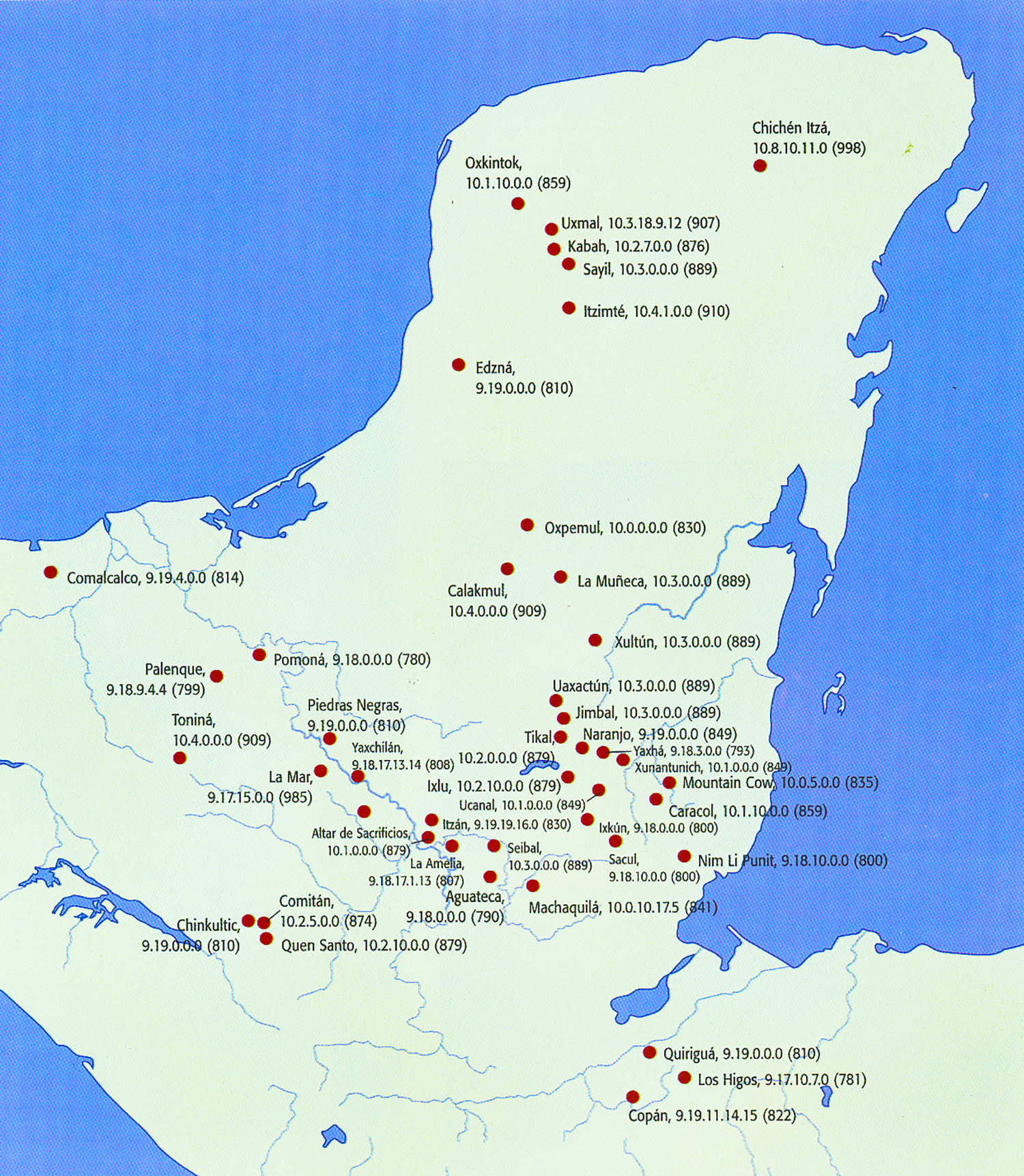 The Collapse. Last recorded dates on monuments indicate the decline of Maya kingdoms. Source:  latinamericanstudies.org .