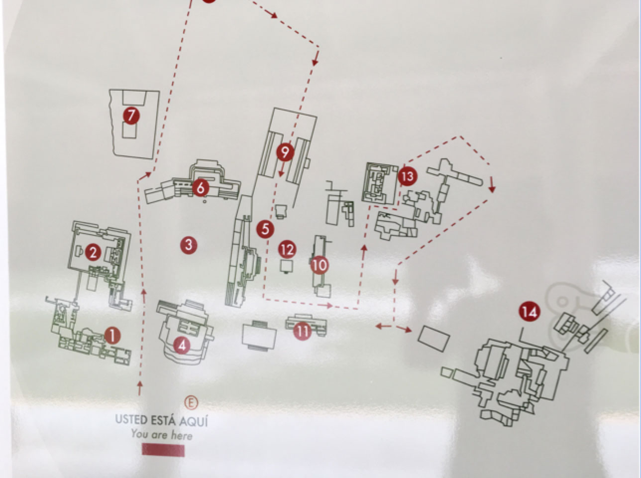 The site map.