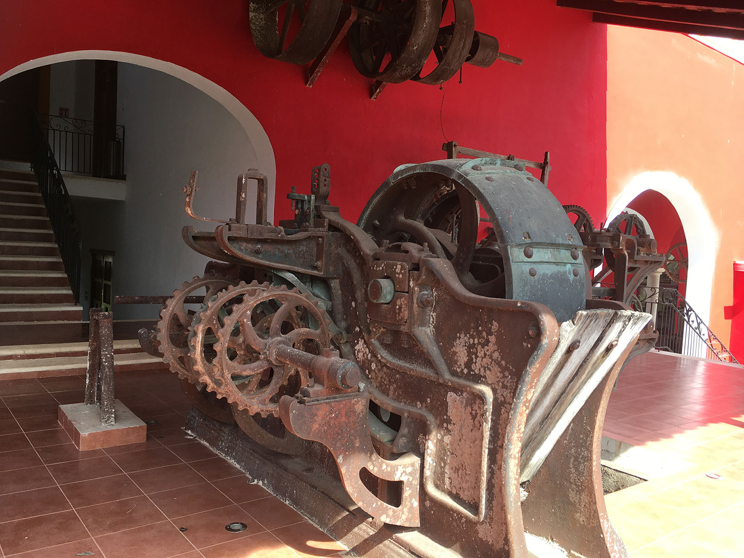 The old machinery is on display today.