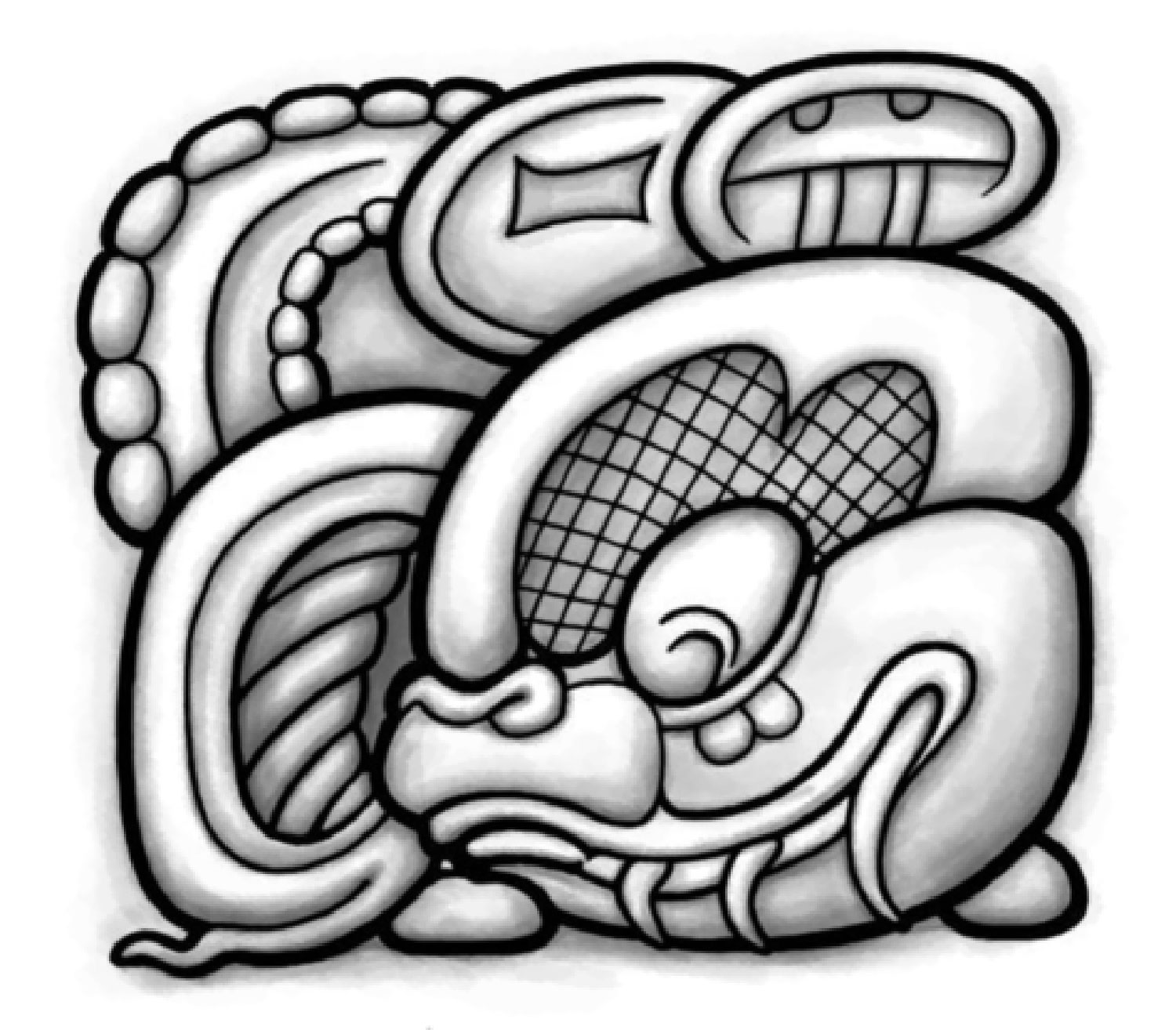 Think of the glyph as a coat of arms. Source:  lastwordonnothing.com .