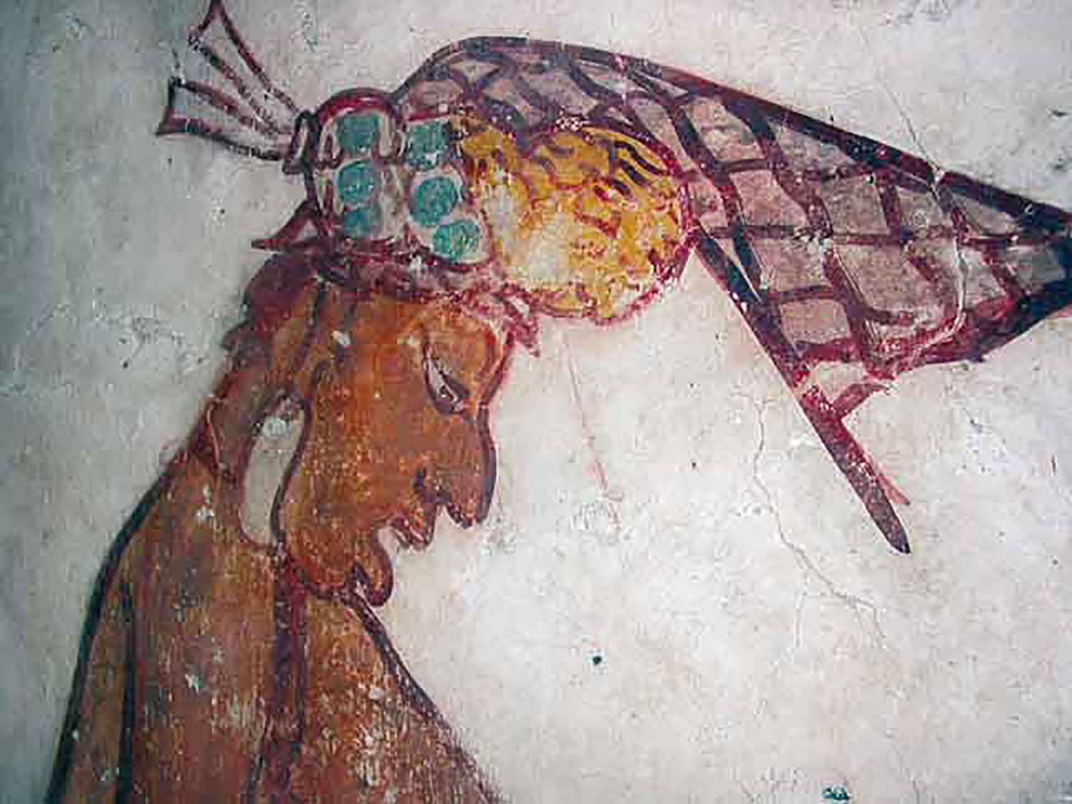 Wall painting in Calakmul, possibly depicting Tuun Kʻabʻ Hix. Source:  wikipedia.org .
