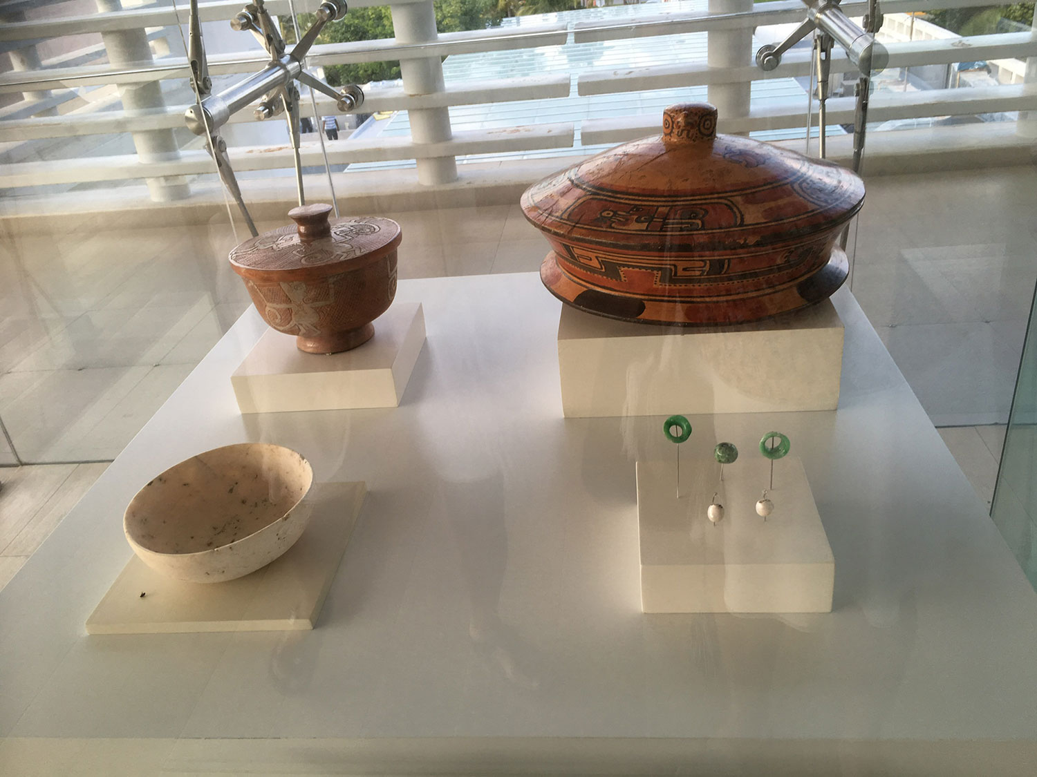 Ceramic pots, now at the Mayan Museum in Cancún.