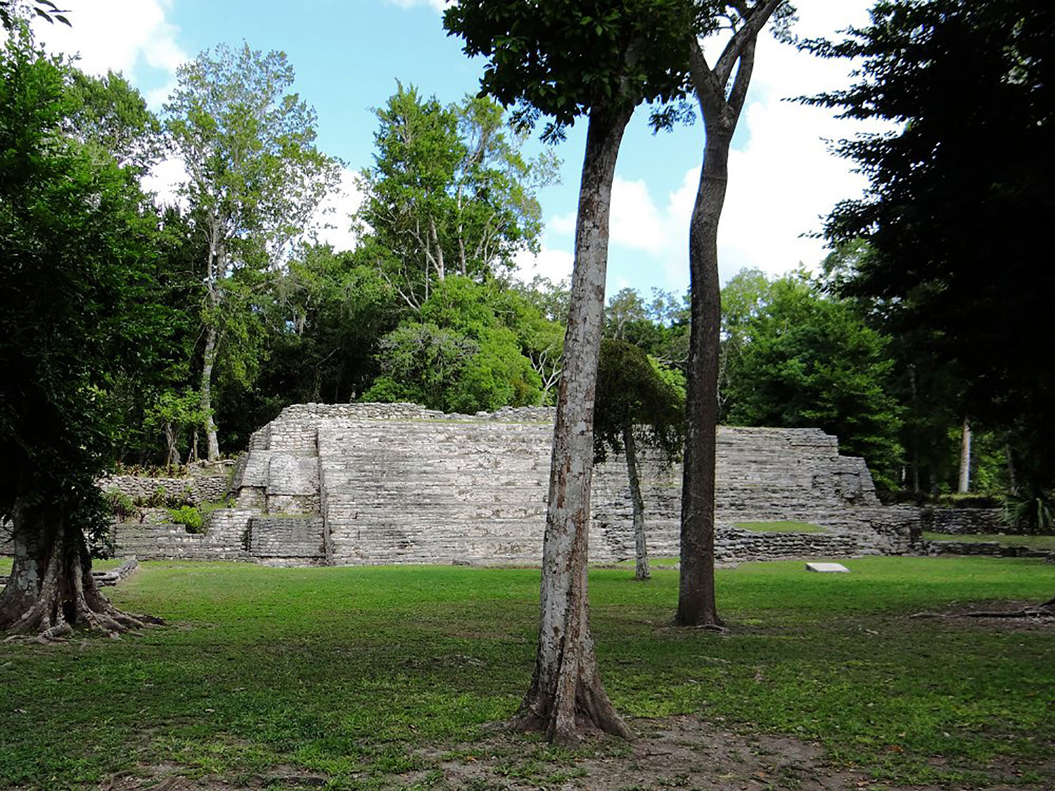 The front of the Temple of the Toucans, facing Plaza Gann.