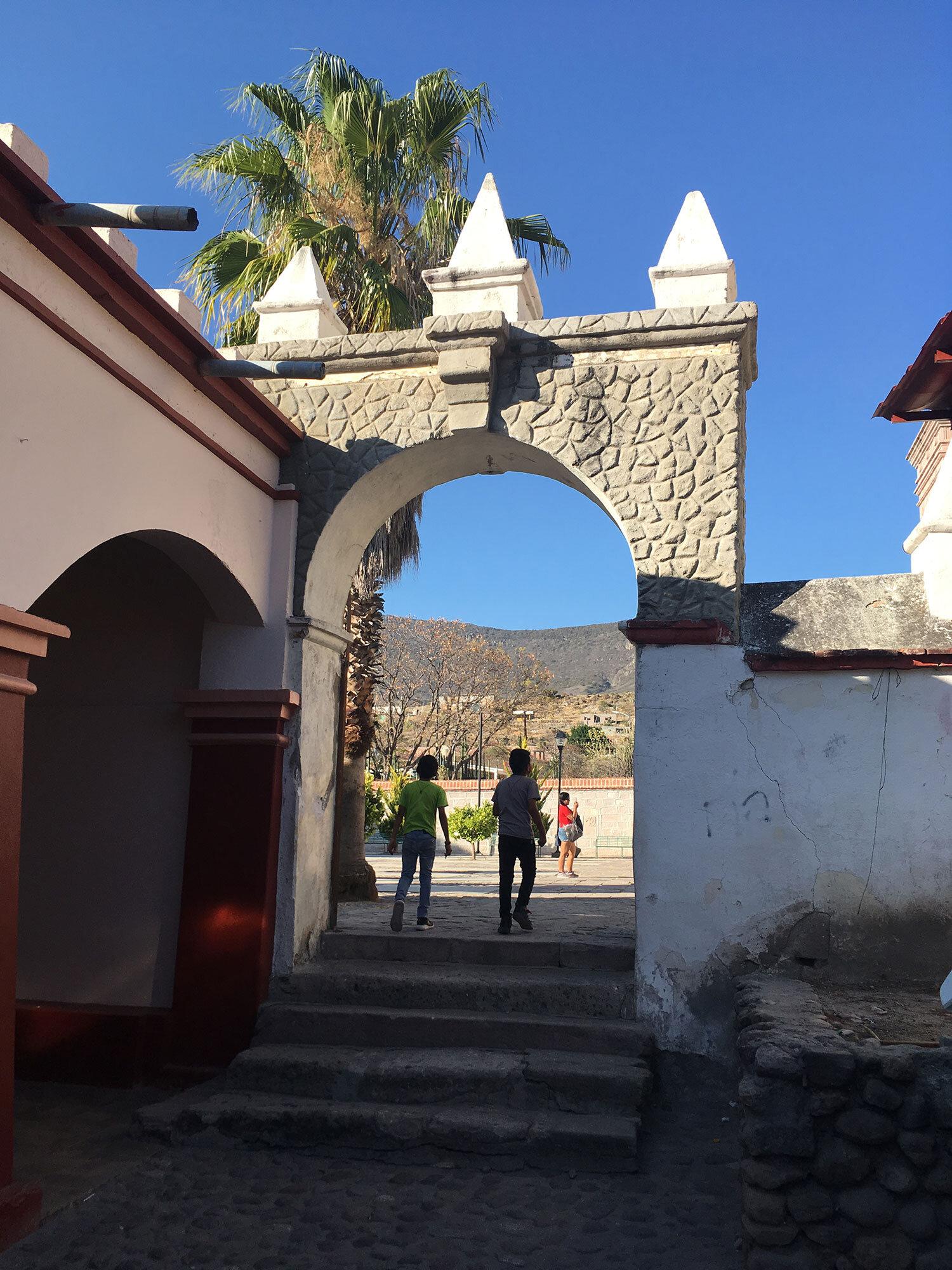 The church gate.