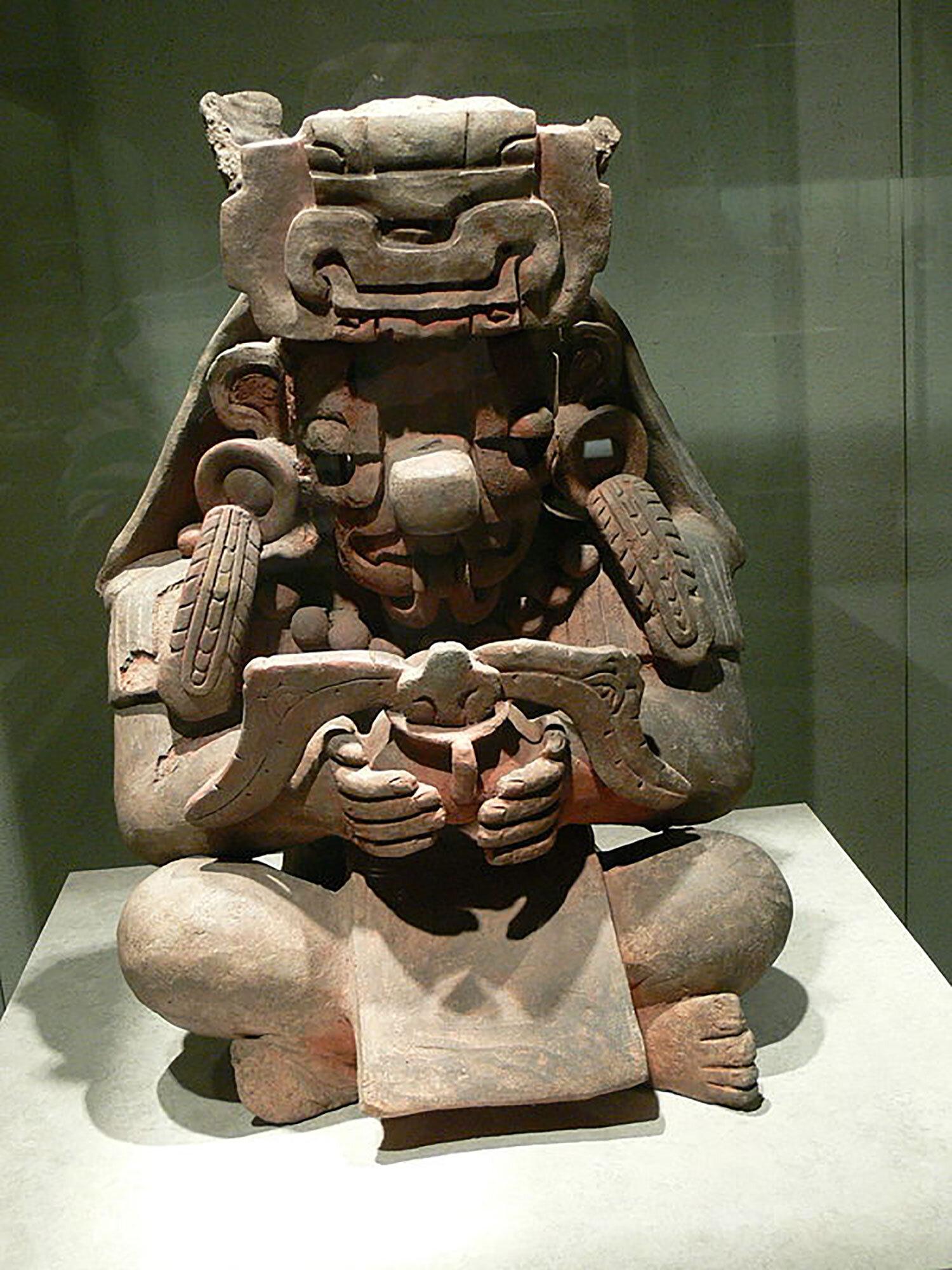 Zapotec God of Rain, Cocijo:  en.wikipedia.org .