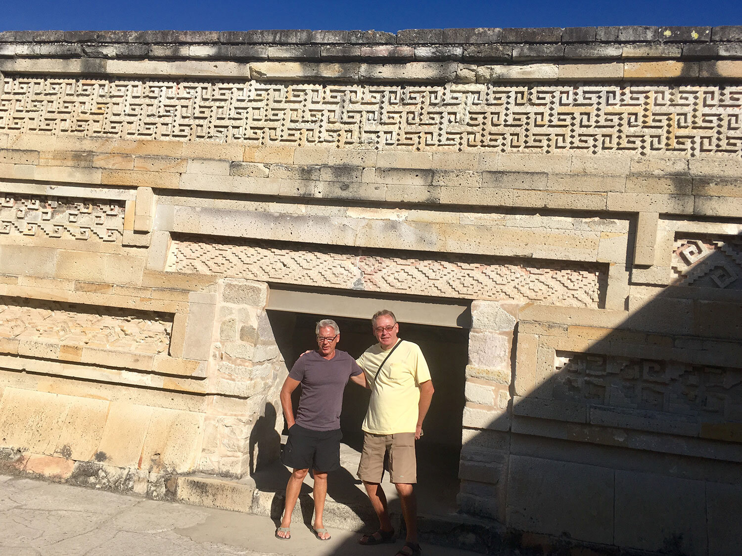My friends Laurie and Colin at one of the three palace entrances.
