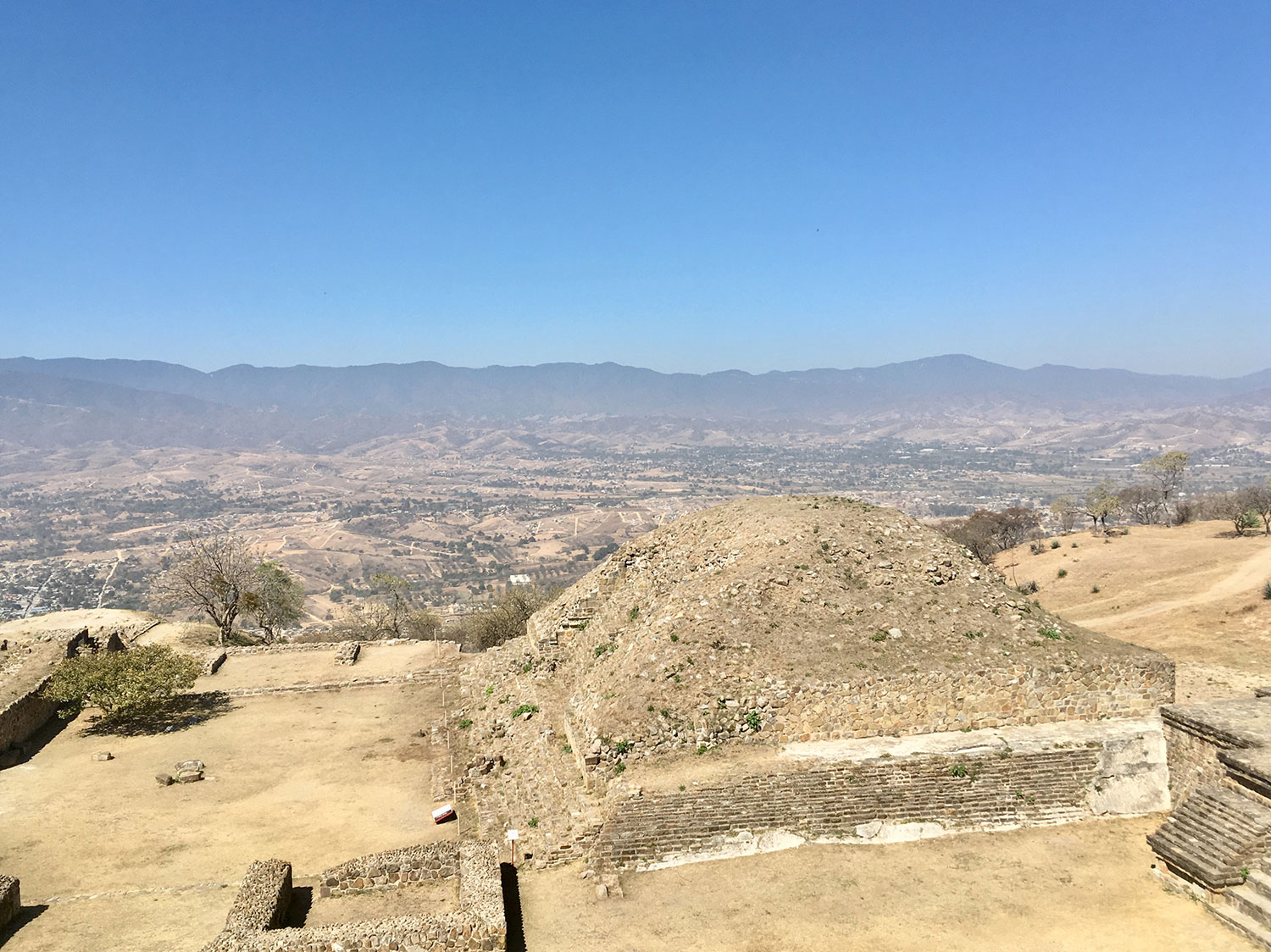 View of the town from the top of the Temple of Masks.