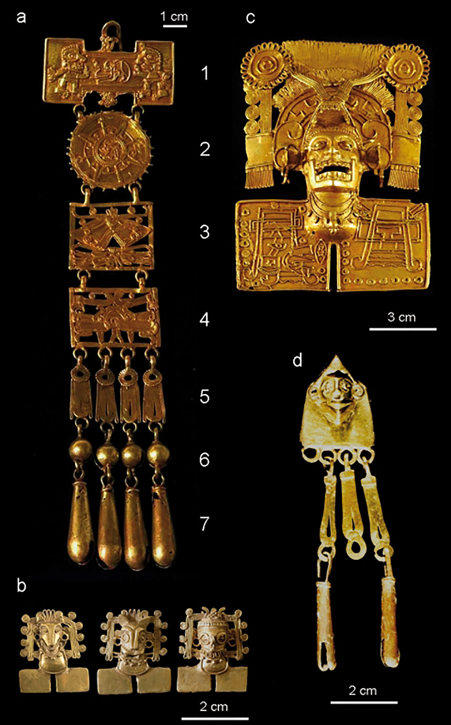 Gold pendants from Tomb 7:  journals.openedition.org .