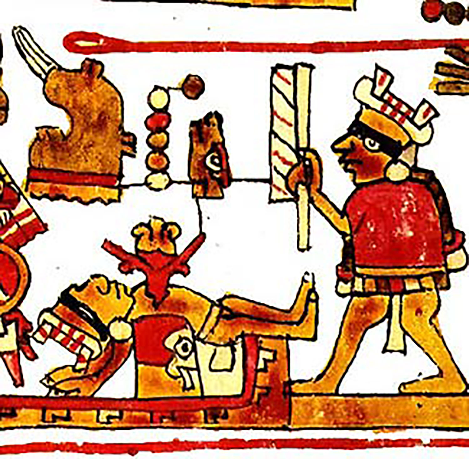 Human sacrifice from the  Selden Codex :  uncoveredhistory.com .