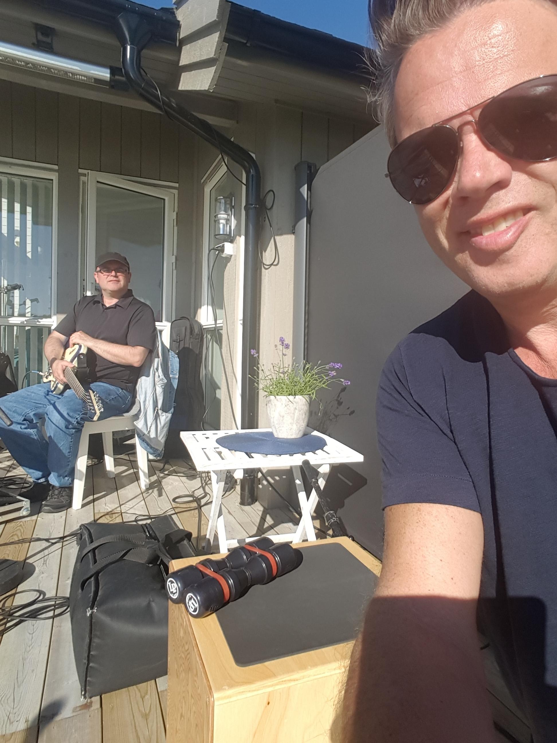 Utekonsert juli 2017, Cajon på Hildre