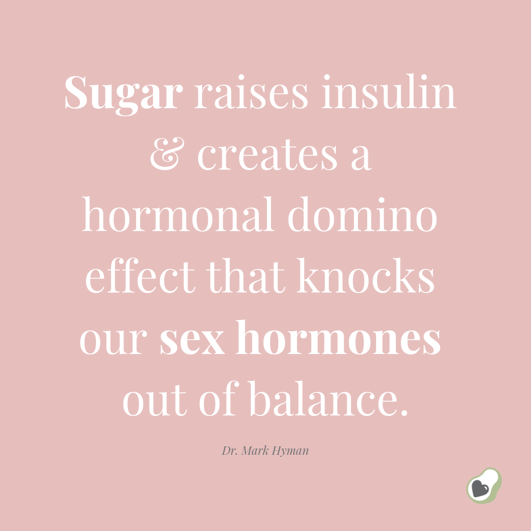 Sugar raises insulin & creates a hormonal domino effect that knocks our sex hormones out of balance..png