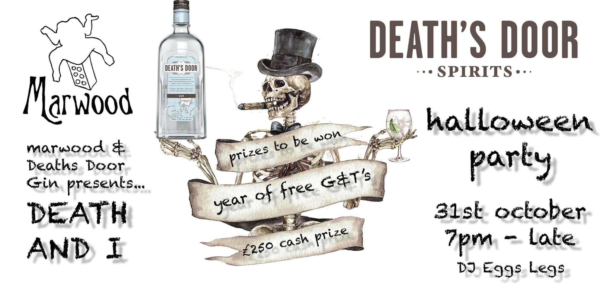 deaths door gin marwood brighton halloween party