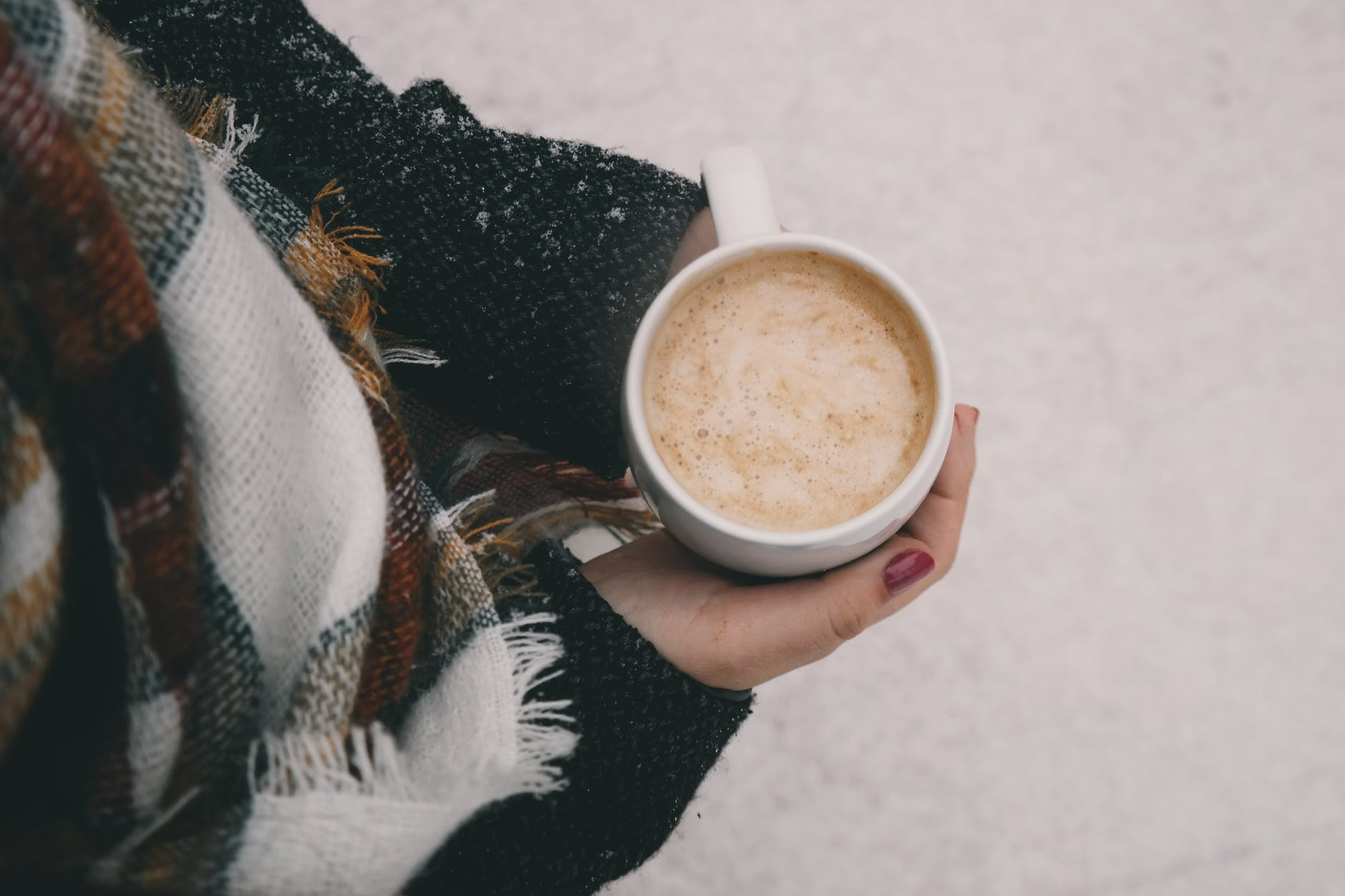 winter self care, warm drink